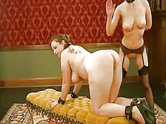 Delightful sirens bella rossi and cherry torn are in masochism act