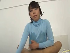 Cute japanese mature sports porn model is giving breast job