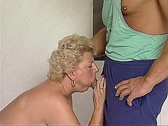Blond mature drilled a... video