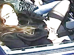 Voyeur Hit Movie:French Gal In Parking Lot BVR