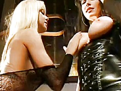 Dominant chick taylor st claire tells her lesbian slaves what to do