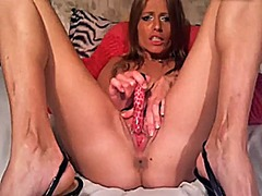 Xhamster Movie:Small saggy tits lady plays wi...