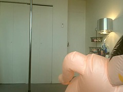 Mastubate Blow Up Doll video