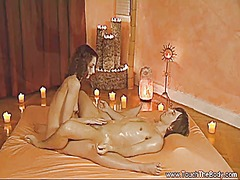 Handjob massage time f...