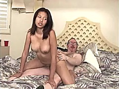 Cute asian chick is fucked by old ed