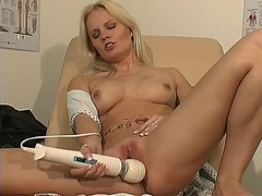 toy, blonde, masturbation