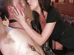 Nipple torture and strapon... - 07:00