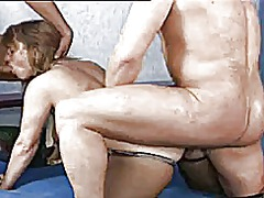 German mature with big tits in a 3some