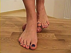 Cbt barefoot with cumshot - Xhamster