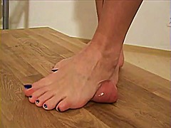 Cbt barefoot with cumshot video