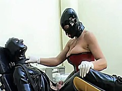 Femdom latex strapon 2 video