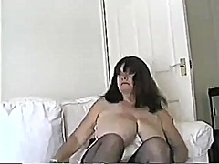 Thumb: Mature milf with large...