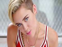 Thumb: Miley cryus jerking of...