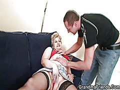 Xhamster Movie:Grandma in black stockings suc...