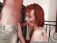 Insatiable mom craving a fist up her ...