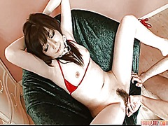 Asuka stripping off an... video