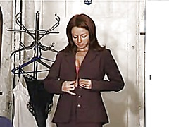 woman change suit spy ...