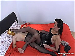 Thumb: Milf teases slave with...