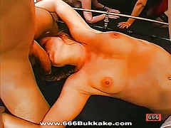 Smoking group sex with loads of pussy bangings