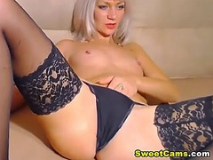 Gorgeous blonde babe f... video