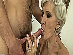 Grey haired granny get... video