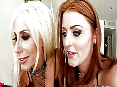 Sophie dee gets her hole licked out hard by puma swede