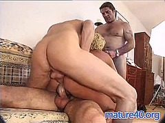 German mature gets double penetration