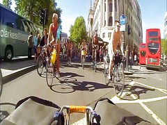 Nudists on public bikes preview