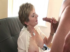 Thumb: Mature goddess gets aw...