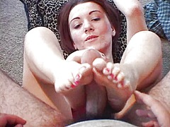 Lucky guy gets a foot ... video