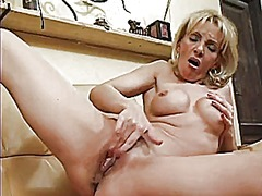 Thumb: Mature blond fingers h...