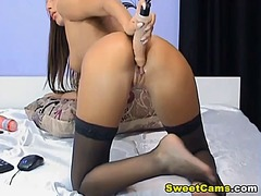 Thumb: Hot sexy chick moans loud