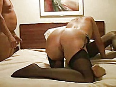 Slutwife gangfucked in a hotel r...