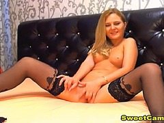 Ah-Me Movie:Tight pink pussy blonde beauty