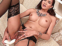 Thumb: Ladyboy loves monter t...