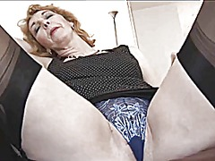 mature, british, blonde, granny,