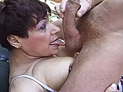 French granny fucked by two big dicks...