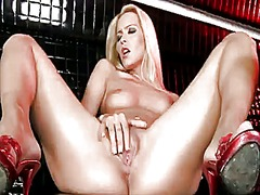 PinkRod Movie:Blonde sophie moone screams as...