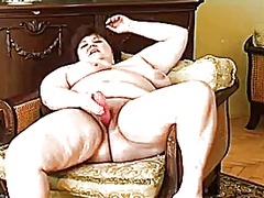 masturbation, bbw, boobs, mature