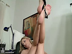 solo, blonde, masturbation