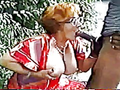 Hungarian granny fucked by a big blac...