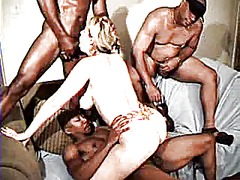double, facial, interracial, gangbang,