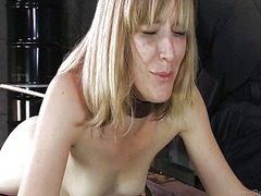 Xhamster Movie:Slender blonde in device bondage