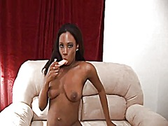 Black girl shower and ... video