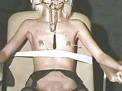 Extreme needle torture and hardcore bdsm of blonde