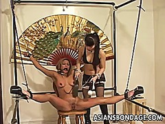 Restrained asian chick... video