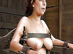 Gagged beauty gets vio... preview