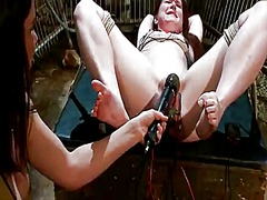 Spicy annabelle lee taco toyed and tortured while tied in sadism