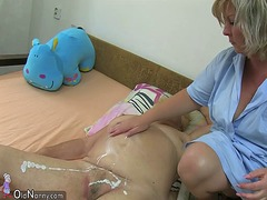 Mature woman using dil...