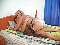A chubby blonde mature... video